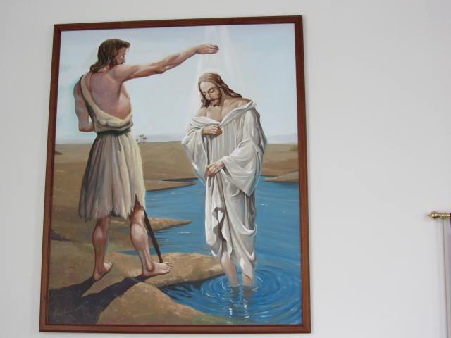 John (Johannes) baptises Jesus
