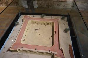 Model of the castle Santa Pola